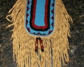 Beaded Neck Pouch by Tribal Artist Free Shipping USA