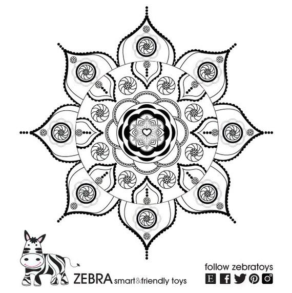 Items similar to shanti mandala star of david gypsy art for Jewish mandala coloring pages