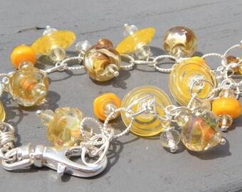 Sunshine Bracelet // Glass Charm Bracelet