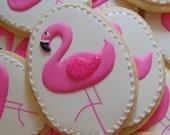 Pink Flamingo Cookies