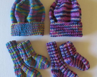 Child's Ribbed Cuff and Hat Set