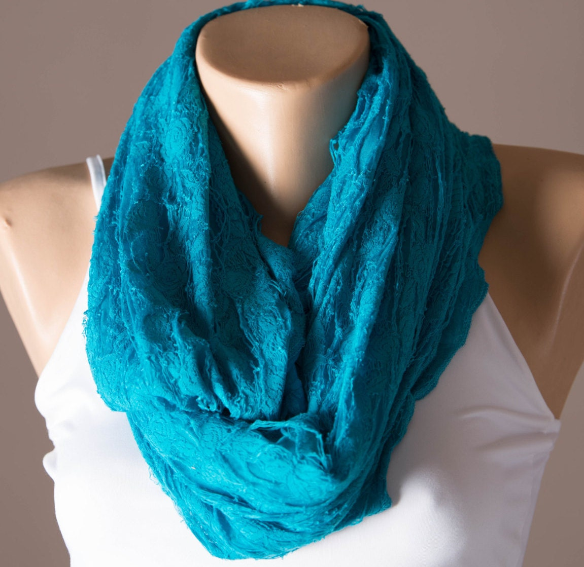 turquoise infinity scarf summer scarf