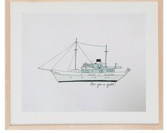Love You a Yacht Artprint