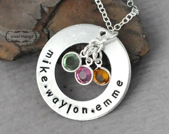 Mother Necklace mommy gifts Personalized birth stone necklace mommy necklace kids names birthstone necklace custom gifts, gifts for mom
