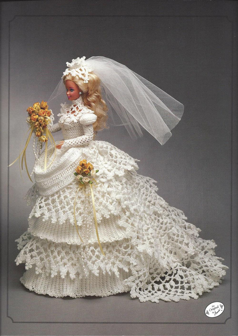 1993 bride doll gown vintage crochet pattern annie 39 s. Black Bedroom Furniture Sets. Home Design Ideas