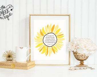 INSTANT DOWNLOAD, Scripture Art, Sunflower, Printable, No. 558