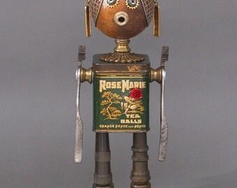 ROBOT SCULPTURE - Metal art robot Metal art sculpture - Rosie