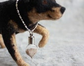 Commemorative Locket - Pet's Ashes or Fur (Add-on)