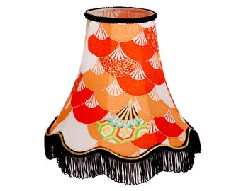Small Silk Table Lampshade - The Wind of a Thousand Folding Fans Shook Off The Apples by Kimono Lamps
