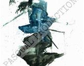 Samurai Champloo Jin Watercolor Painting Print Jin