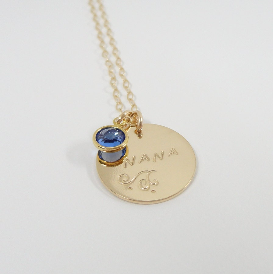 nana necklace gift for gold filled personalized