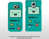 Samsung Galaxy S7 Edge S6 and Note 4 Adventure Time BMO phone case. Beemo video games phone cover Galaxy s5, s4 FP221