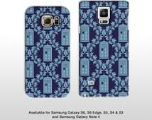 Samsung Galaxy S7 Edge S7 & Note 4 5 minimal Doctor Who Tardis wallpaper phone case Samsung galaxy s4 s5 FP097