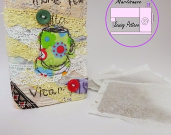 Tea wallet, sewing pattern, teabag pouch , pdf wallet,  easy sewing project ,beginner  sewing, tea pouch, tea organiser