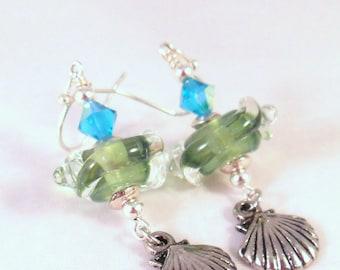 Seaside Lampwork Earrings
