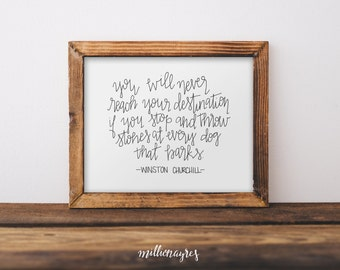INSTANT DOWNLOAD  Printable Quote, Wall Art Decor Winston Churchill Quote MillionAyres