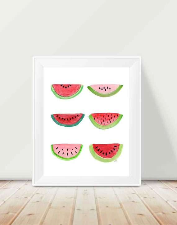Watermelon Kitchen Print, 11x14