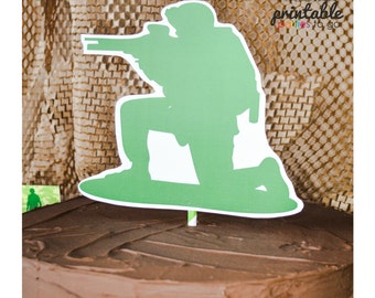 INSTANT DOWNLOAD Camo Military Army Men Party Printable Cut Out - Please Read Description Thoroughly - Printable Parties to Go
