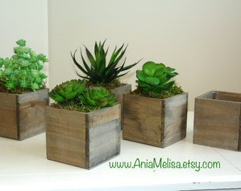 wood box wood boxes succulent planter flower rustic pot square vases for wedding top table decor wooden boxes rustic chic wedding