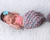 Crocheted Mermaid Tail Newborn Mermaid Outfit Baby Photo Prop Baby Mermaid Photo Prop