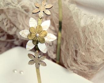 Vintage wedding headband, Vintage headband, Bridal hair accessory, Bridal headband, Bride headband, Bridal vintage headband, Gold headband