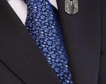 Skye Terrier brooch - sterling silver.