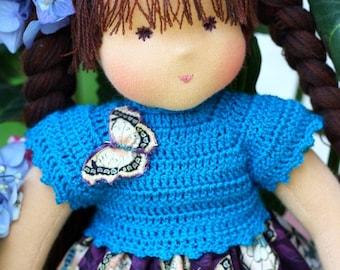 "Waldorf doll classic 15-17""  inches - Yuliya3- gift for girls"