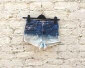 Denim Short Ombre Bleach Ripped Jean Cut Offs ALL SIZES Bleached Grunge Jean Short Summer Festival Clothing Shorts Beach