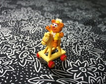 Fozzy The Bear Muppet Babies Figurine 1986 Rare Muppet Babies Mcdonalds Happy Meal PVC Figurine.  Awesome Retro 80s Kid Pop Nostalgia