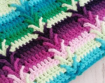 Crochet Pattern,  Afghan, Throw, Baby Blanket, This Way Blanket