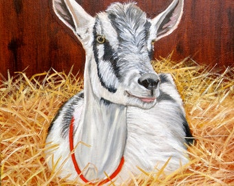 A Goat: Print of an Original Oil Painting