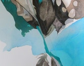 """Feather Song Series:    """"Strong Current"""" Original, one of a kind watercolor"""