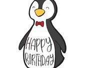 Penguin Birthday Card - Intro Pricing!