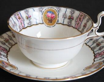 AYNSLEY Bone China Teacup and Saucer Set 1926-34