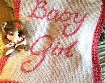 BABY GIRL BLANKET Crochet Pattern