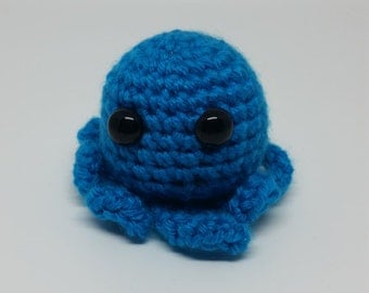 Crochet Blue Octopus
