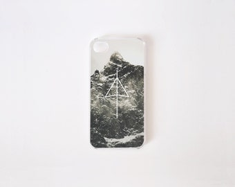 iPhone 4/4s Case - Black Mountain iPhone Case - iPhone 4 s case - iPhone 4 case - Hard Plastic or Rubber