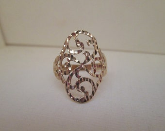 Lacey 14K Gold Gypsy Ring