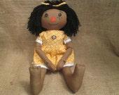 Handmade African American Raggedy Ann Doll