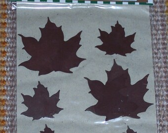 Rusty tin Maple leaves,6/pkg,flat die cut embellishment,Rustic Accents,Darice,country,rustic,craft,primitive