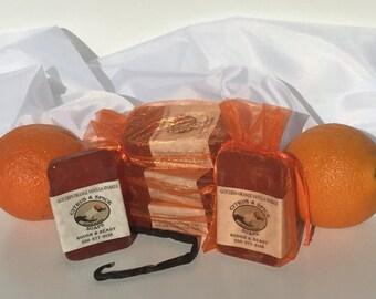 Orange-vanilla veggi glycerin  sparkle soap