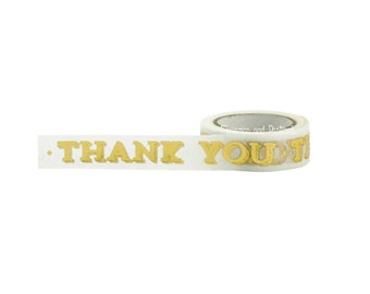 Thank You Gold Foil Washi Tape - Packaging - Scrapbooking Embellishment - Gift Wrapping - Masking Tape - Little B - 433181