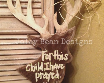 DEER Unfinished Wooden Craft Shape, Do-It-Yourself