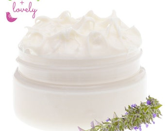 Lavender Chamomile - Nature's Silk Body Cream, Body Lotion. Thick and Luscious. Certified organic ingredients. Bath and Body.