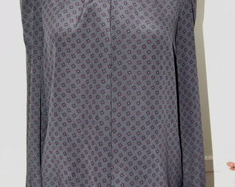 Vintage Marion Mageld Gray Silk Blouse