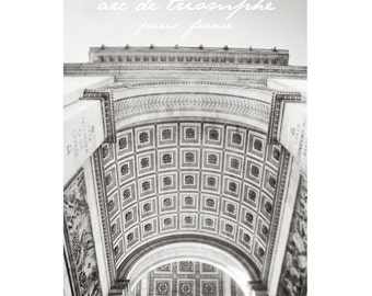 Arc de Triomphe / Paris / Travel / Architecture / French / Photography Print / typography / Home Decor sizing options 4x6, 5x7 or 8x10