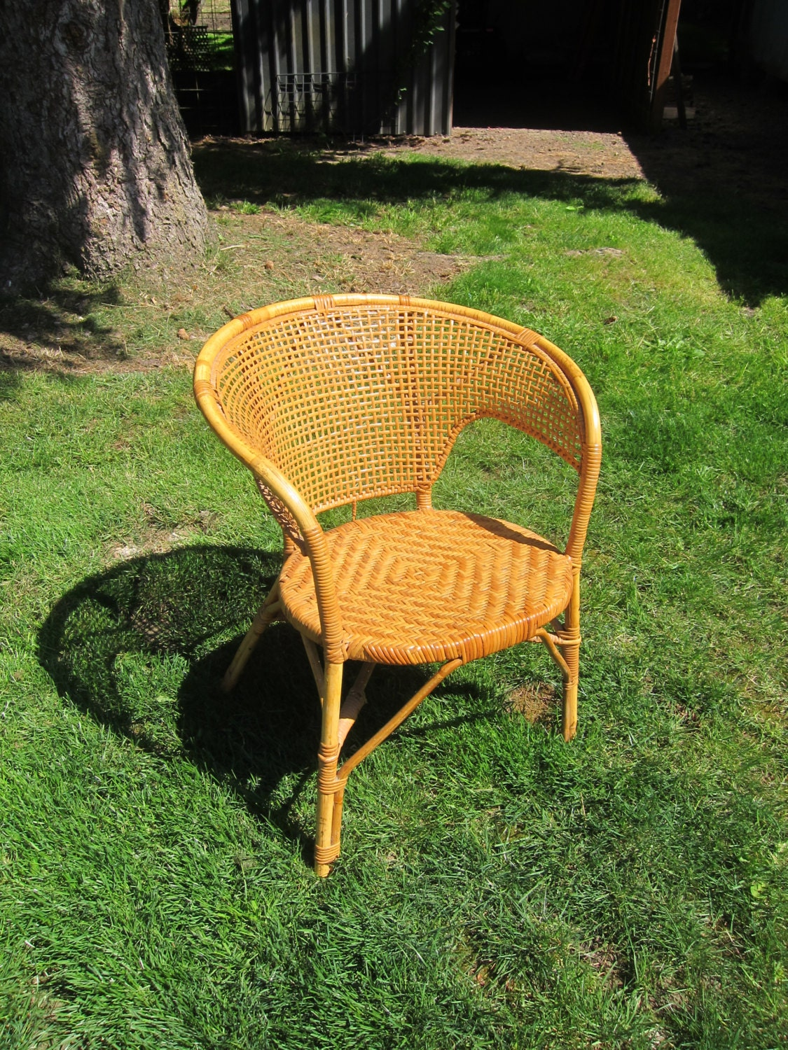 wicker chair mid century modern bentwood 1970s chair patio furniture