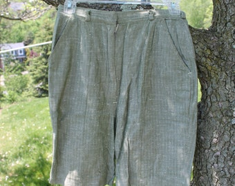 Green Herringbone Tweed Loomtog Shorts