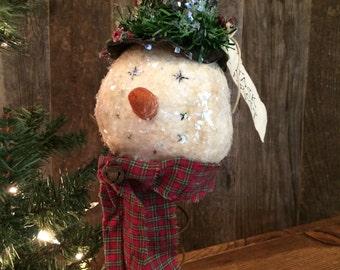 Primitive Snowman on Rusty Bedspring