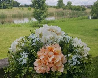 French Hydrangea Garden, Floral Table Centerpiece, Home Decor, Wedding Centerpiece